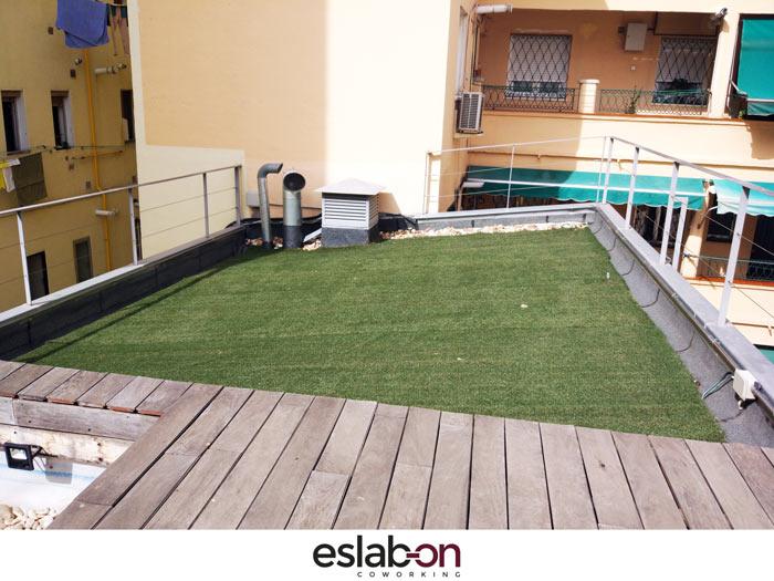 Azotea Jardin Eslabon Coworking Madrid